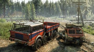 Для SnowRunner вышел комплект TATRA Dual Pack, добавляющий два грузовика