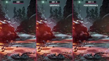 Gears of War 4 - Сравнение графики Xbox One X vs. Xbox One (Candyland)