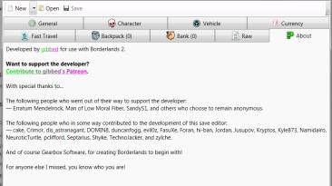 Borderlands 2: Редактор Сохранений / Save Editor (BL2 Save Editor) [1.0.42]