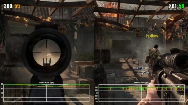 Call of Duty Black Ops Xbox 360 vs Xbox One Frame Rate Test (обратная совместимость)