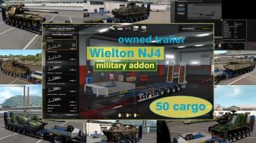 """Euro Truck Simulator 2 """"Военные грузы для низкорамника Wielton NJ4 (в собственность) v1.5.5"""""""
