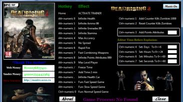Dead Rising 3 - Apocalypse Edition: Трейнер/Trainer (+24) [1.0.0.5 / Update - 5] {MaxTre}