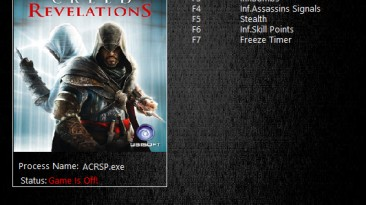 Assassin's Creed: Revelations: Трейнер/Trainer (+8) [1.00] {MrAntiFun}