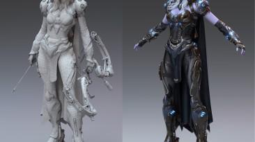 3D-моделлер переобразил Drow Ranger из Dota 2 в стиле Cyberpunk 2077