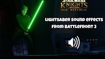 "Star Wars: Knights of the Old Republic ""Звуковые эффекты световых мечей из Battlefront 2"""