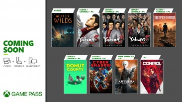 В январе Xbox Game Pass пополнят Control, The Medium и игры Yakuza
