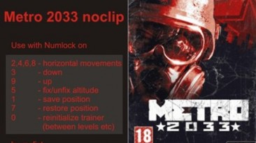 Metro 2033: Трейнер/Trainer (+10) [0.1] {mcfist}