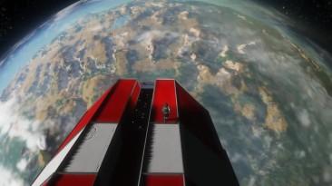 Space Engineers: приземление из стратосферы