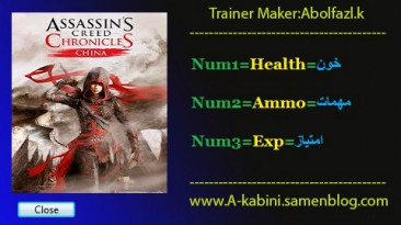 Assassin's Creed Chronicles - China: Трейнер/Trainer (+3) [1.0] {Abolfazl.k}