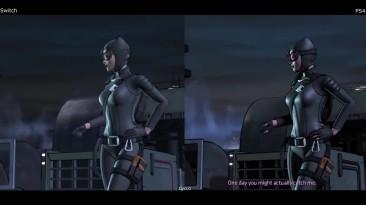 Графическое сравнение - Batman A Telltale Series Nintendo Switch vs PS4