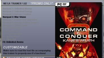 Command &Conquer 3: Kane's Wrath: Трейнер (+2) [1.02]