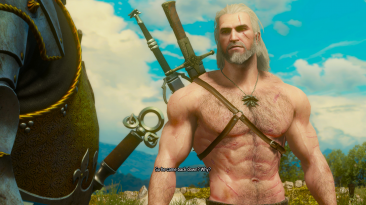 """The Witcher 3 """"Реалистичные волосы на теле Геральта"""""""