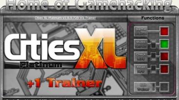 Cities XL - Platinum Edition: Трейнер/Trainer (+1: Money / Деньги) [1.0.5.725] {sILeNt heLLsCrEAm/HoG}