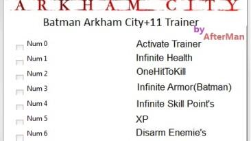 Batman-Arkham City: Трейнер/Trainer (+11) [All Version's] {AfterMan}