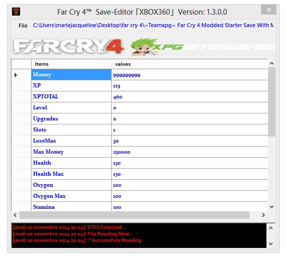 Far Cry 4 - Редактор сохранений   Save Editor [XBOX360]