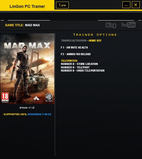 Mad max v1. 00 trainer +7   mad max mods.