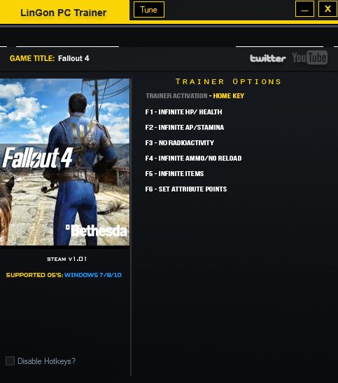 Скачать трейнер на fallout 4.