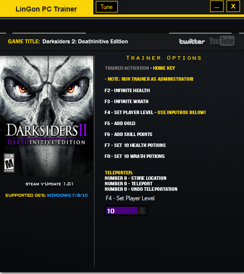 Darksiders ii deathinitive edition cheats and trainer trainers.