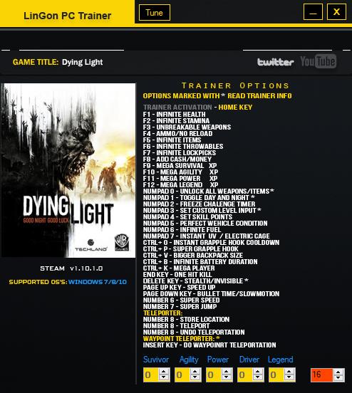 Скачать читы на <b>dying light</b> the following