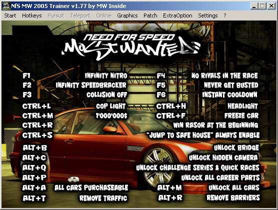 nfs most wanted 2005 pc trainer download
