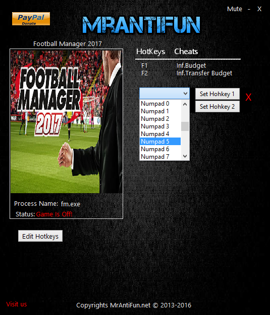 Football Manager 2017 Editor редактор