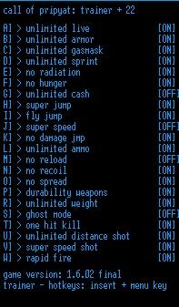 чит коды для игры сталкер путь во мгле
