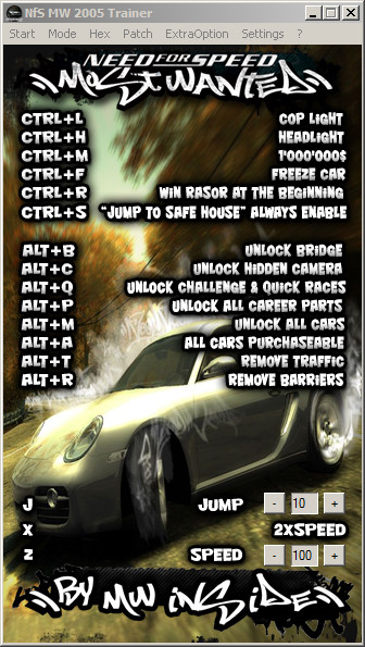 Need for Speed: Most Wanted (2005): Трейнер/Trainer (+26) [Latest