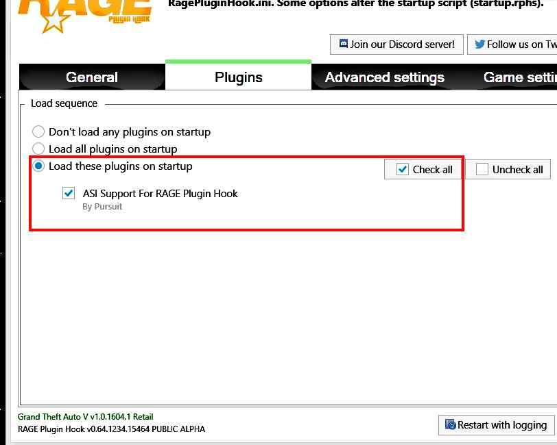 Grand Theft Auto 5 (GTA V): RAGEPluginHook 0 64 1234 15464