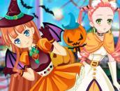 Одевалка двух подруг на Хэллоуин