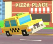 Pixel Road: Taxi Depot - Такси из блоков