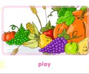 Раскрась осенний урожай