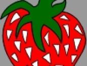 Раскрась ягоду