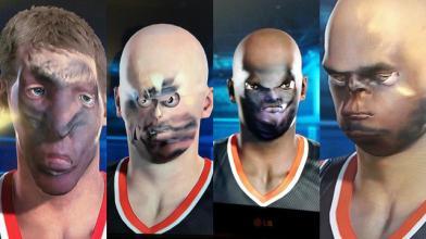 Ужасающие результаты технологии сканирования лиц в NBA 2K15