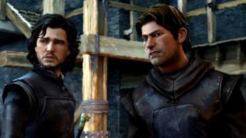 Оскалившийся дракон и Джон Сноу на скриншотах третьего эпизода Game of Thrones