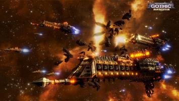 Восьмикилометровые космические корабли в геймплейном трейлере Battlefleet Gothic: Armada
