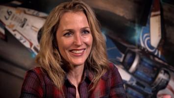 Джиллиан Андерсон во время записи сюжетных сцен Star Citizen