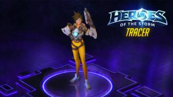 Геймплей Трейсер из Overwatch в Heroes of the Storm