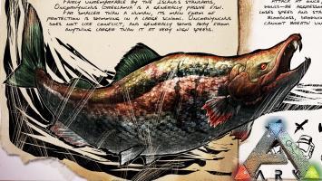 С майским апдейтом в ARK: Survival Evolved появился саблезубый лосось