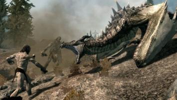 Сотня драконов против трехсот гигантов в ролике Skyrim