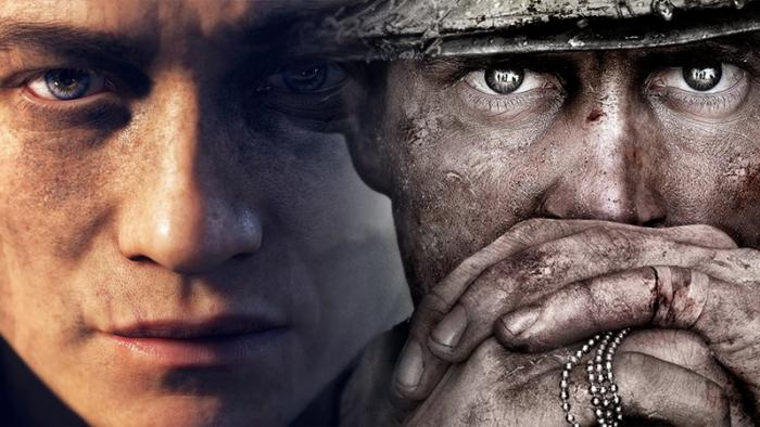 Сравнительные скриншоты Battlefield 1 и Call of Duty: WWII