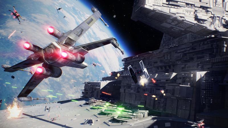 """Настоящие """"Звездные войны"""". Впечатления от режима Starfighter Assault из Star Wars: Battlefront 2"""
