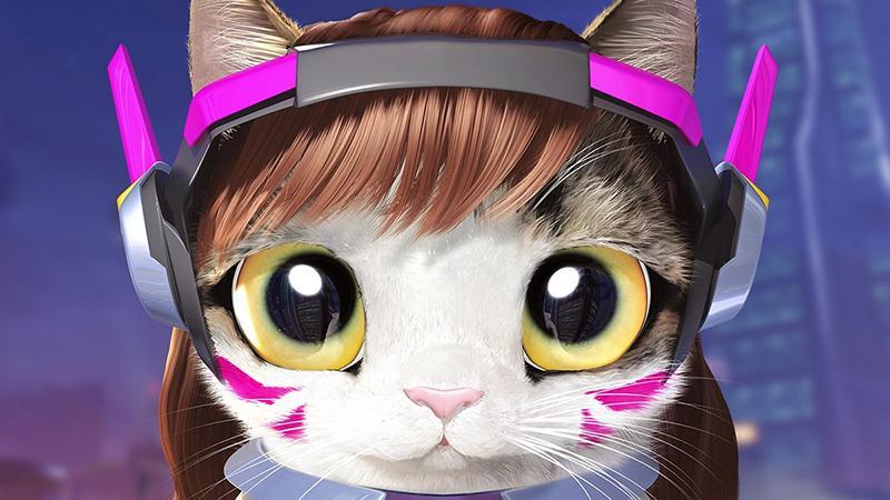 Кот с джетпаком на новых концепт-артах Overwatch