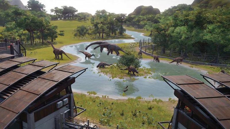 В Jurassic World Evolution игроки столкнутся с промышленным шпионажем
