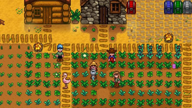 Геймплей Stardew Valley из мультиплеерной беты