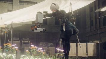 Геймплей NieR: Automata в 4K-разрешении с Xbox One X
