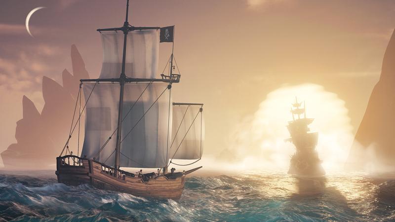Корабли скелетов ворвутся на просторы Sea of Thieves в конце июля с обновлением Cursed Sails