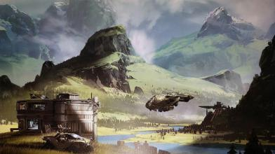 Новый концепт-арт Halo Infinite