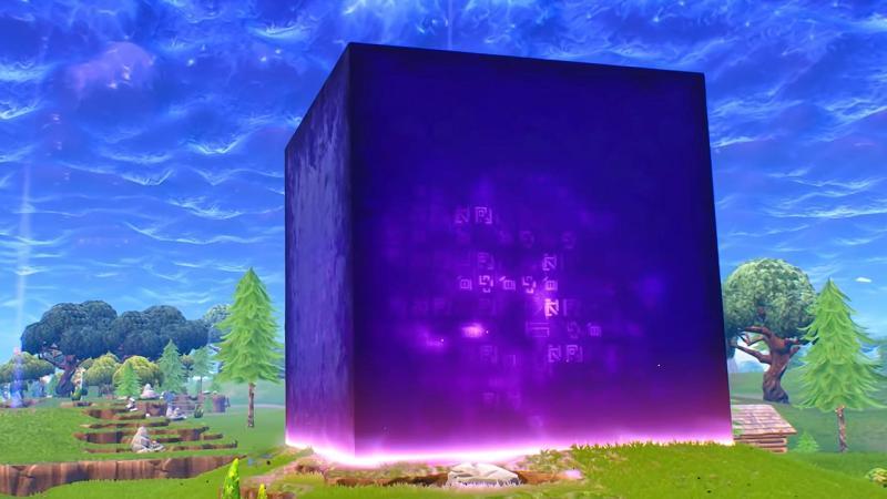 Таинственный фиолетовый куб из Fortnite: Battle Royale растворился в озере