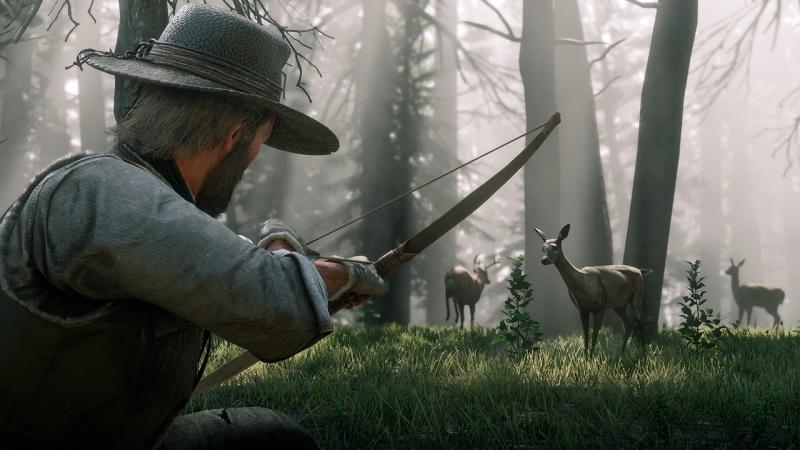 В Red Dead Redemption 2 есть более 200 видов животных с уникальным поведением