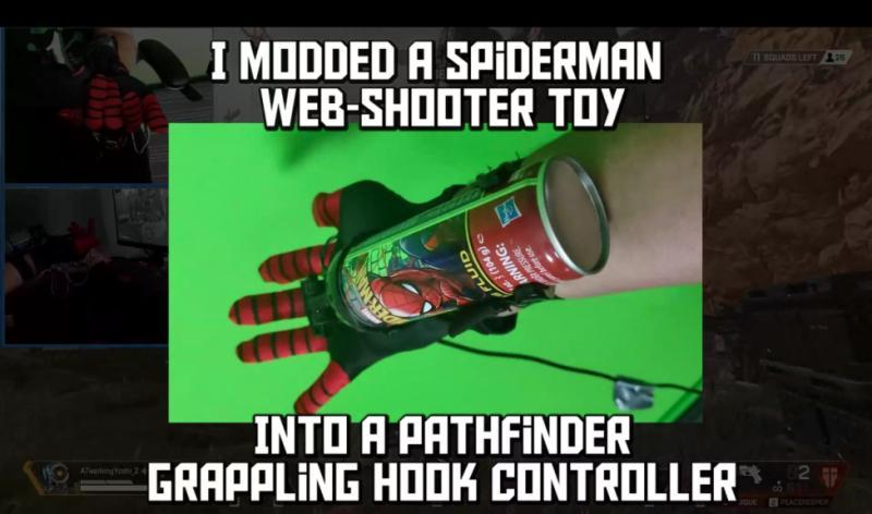 Энтузиаст создал необычный контроллер для игры за Pathfinder в Apex Legends